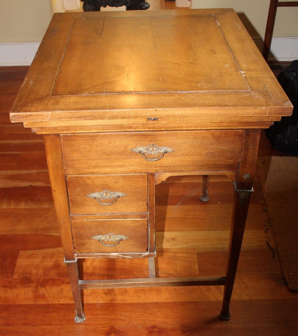 Antique Maple Schoolmaster's Desk - 5
