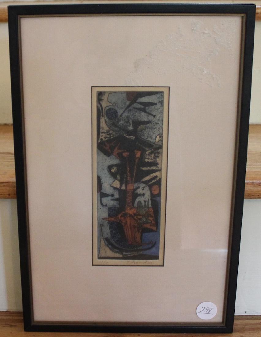 Edmondson, Leonard. Etching & Aquatint 1/50 Sgd.