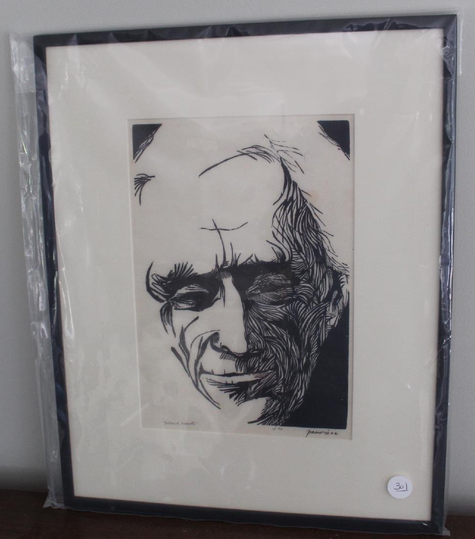 Frasconi, Antonio. Bertrand Russel. 1962 Signed