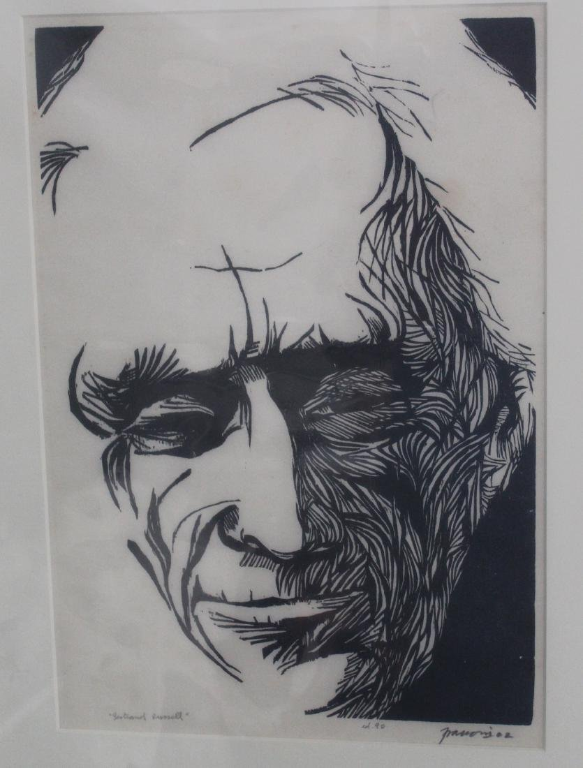 Frasconi, Antonio. Bertrand Russel. 1962 Signed - 2