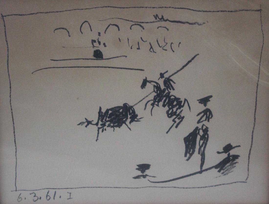Picasso Lithograph.La Pique Los Toros 1961Signed - 2