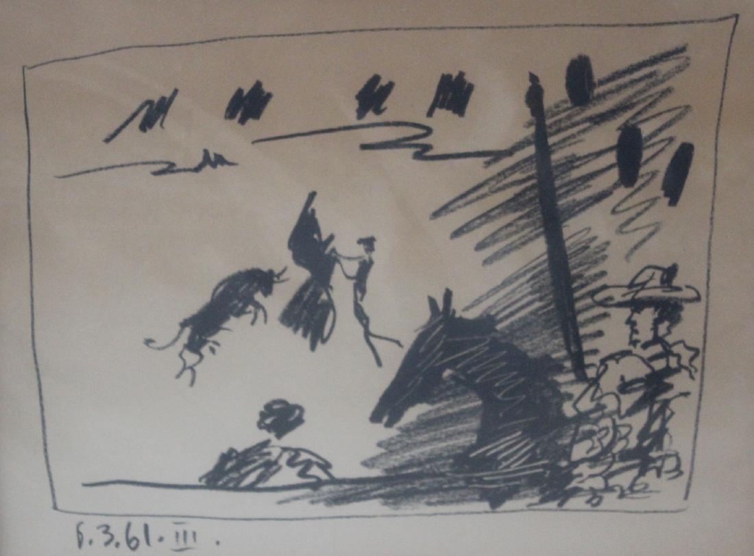 Pablo Picasso Lithograph. La Pique Los Toros 1961 - 2