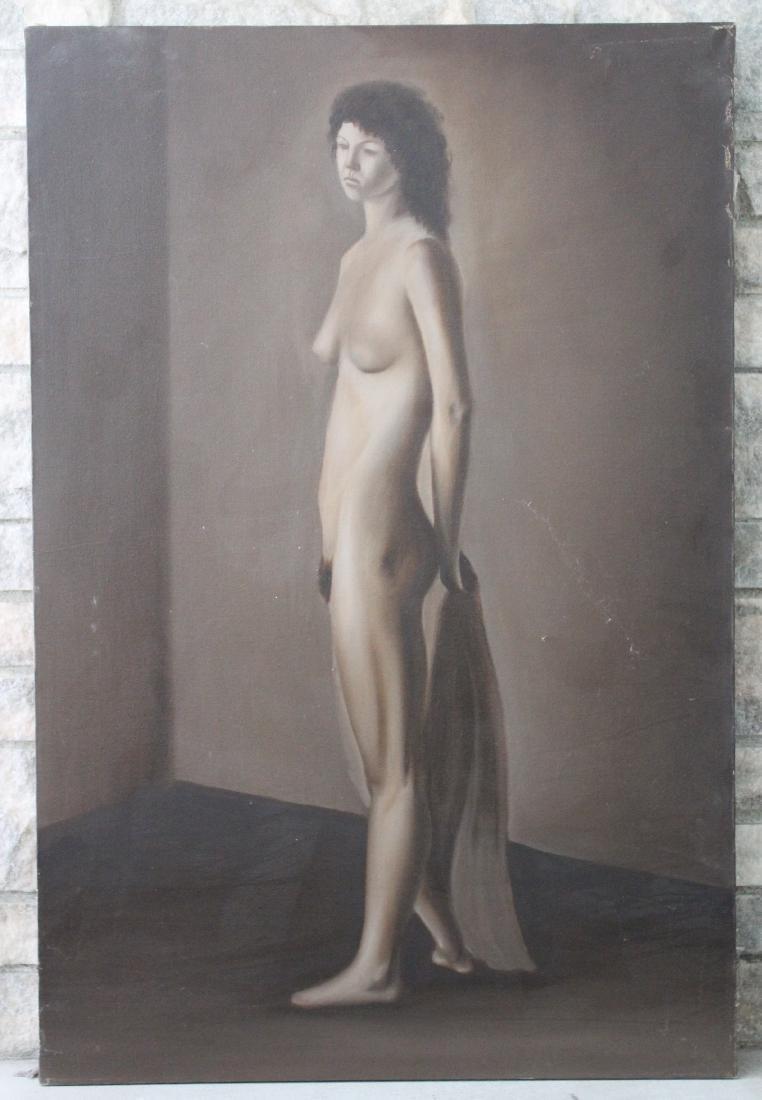 Juan P.Q. Hernandez. Oil. Standing Nude. Sgd.