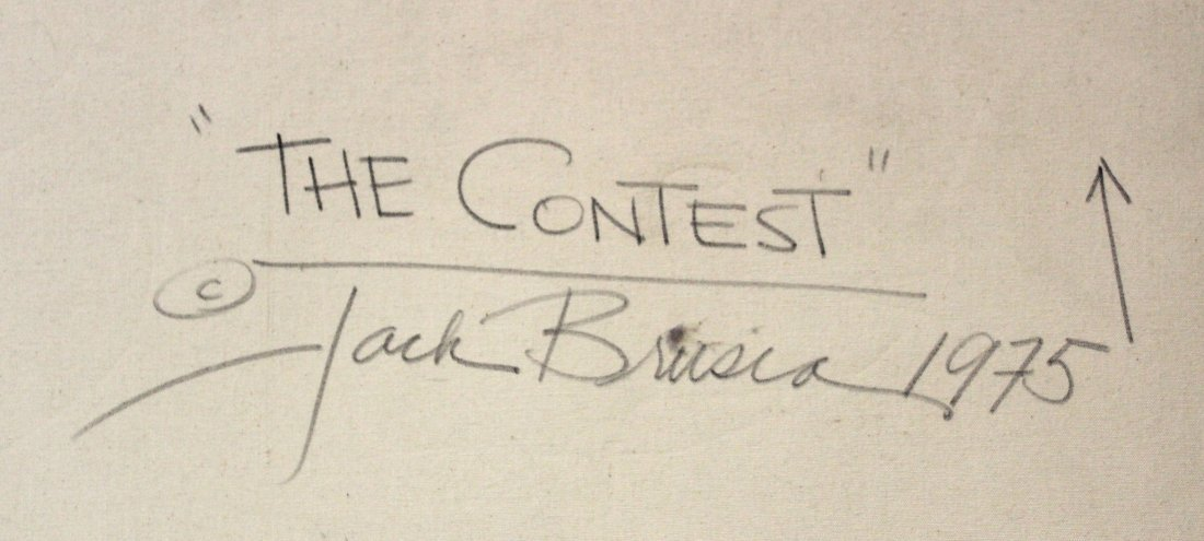 Jack Brusca. Oil. The Contest Sgd. - 4