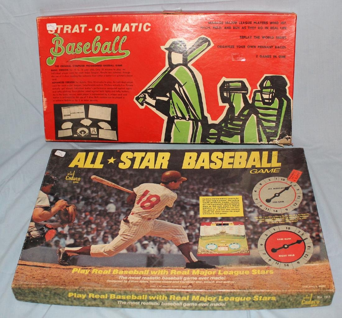 Baseball Board Games. All*Star  Baseball & a 2nd
