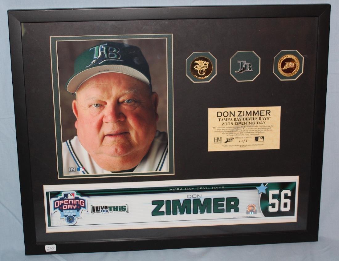 Don Zimmer Locker Name Plate