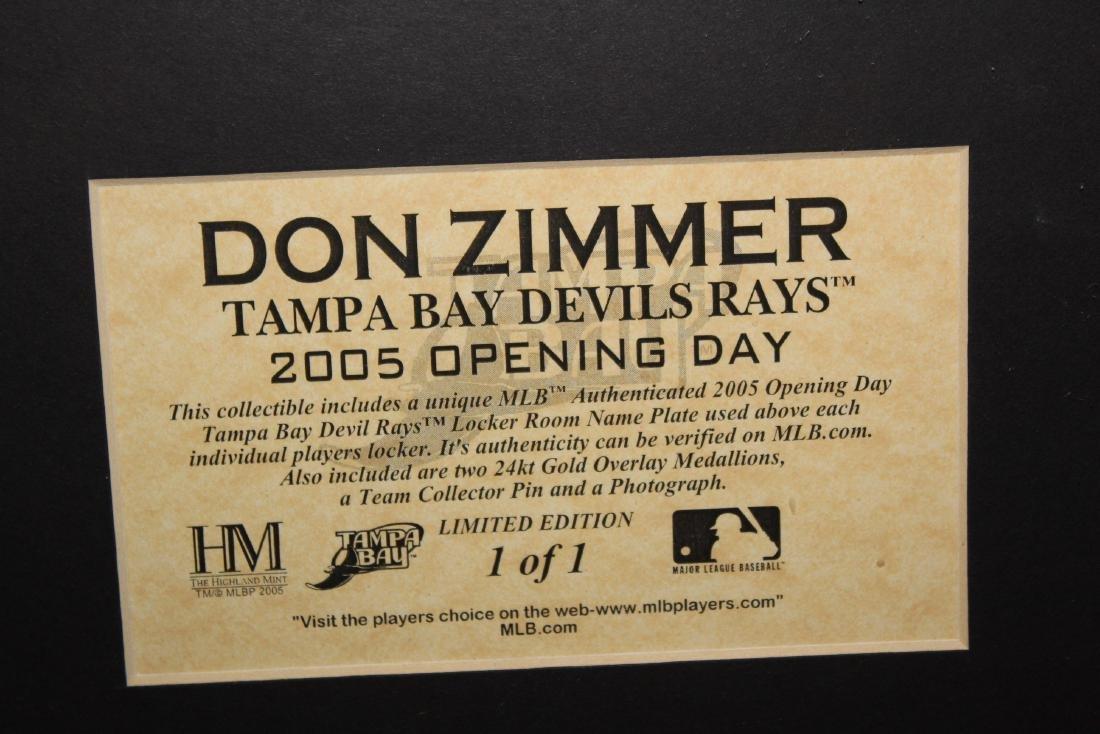 Don Zimmer Locker Name Plate - 2