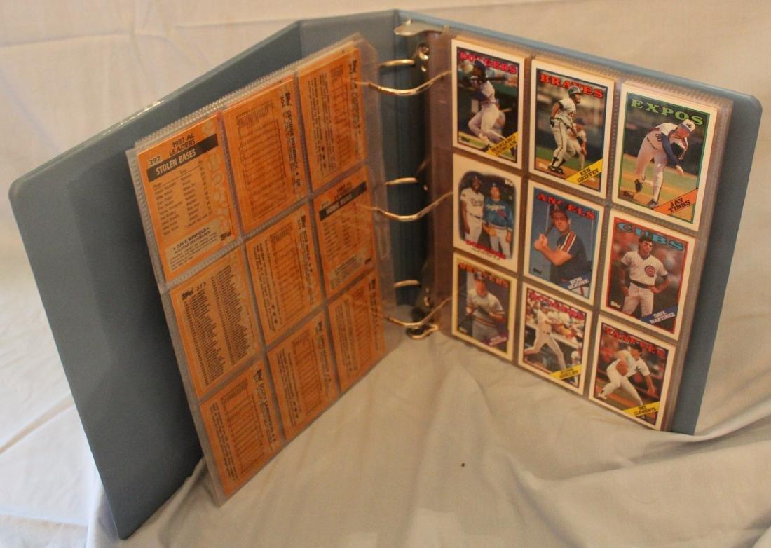 Baseball Card Album. Mostly 1988 (Approx.161) - 2