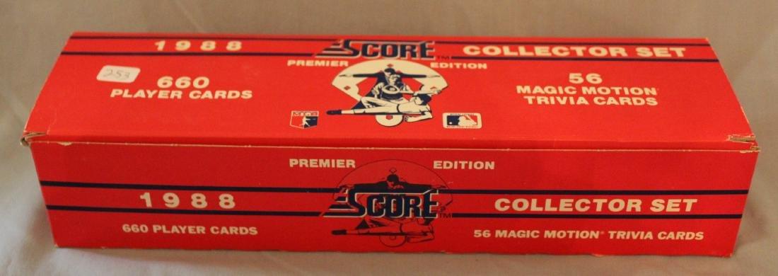 Baseball Score Collectors Inaugural  Set. 1988