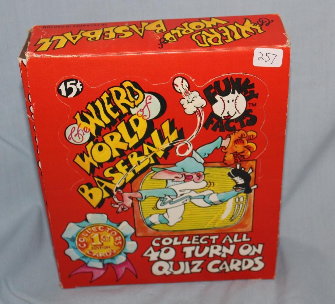 Weird World Baseball Cards.