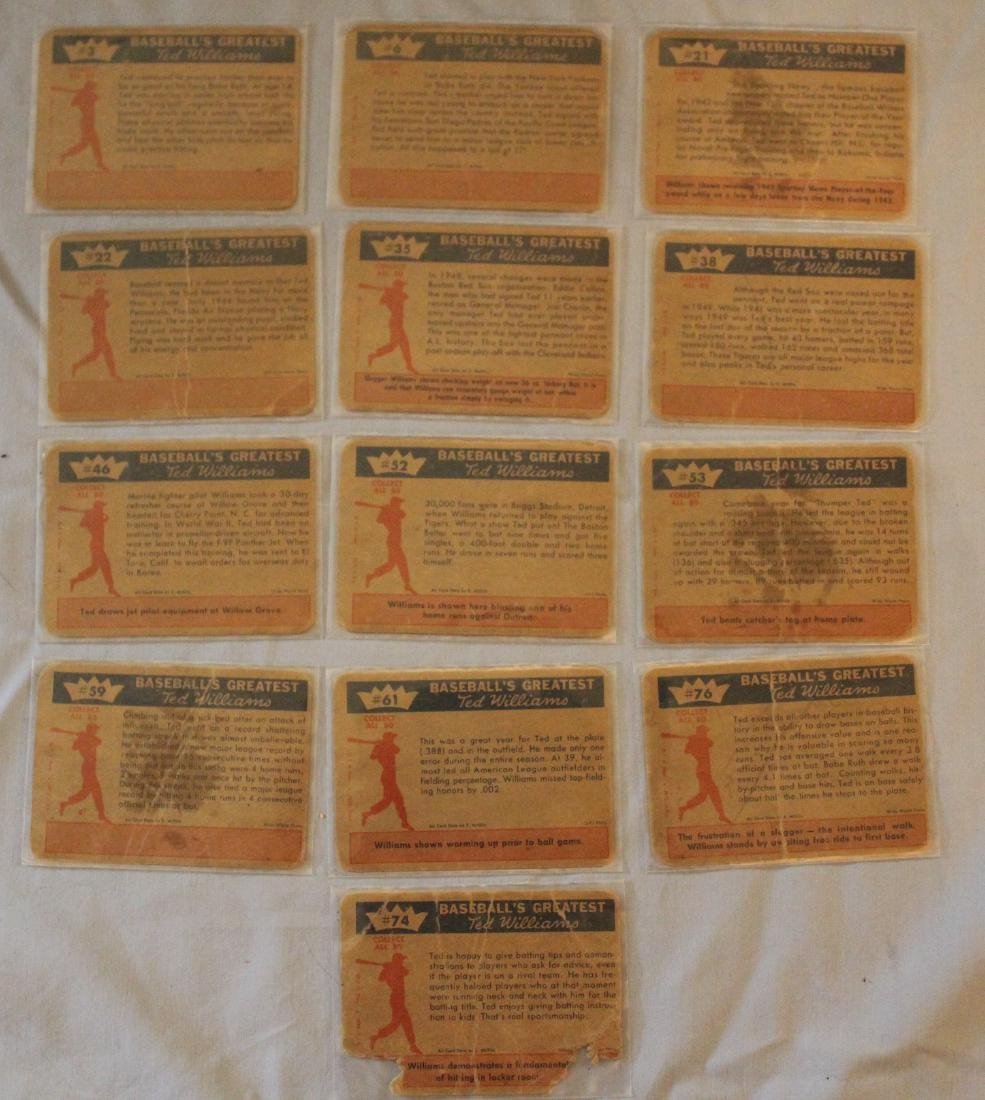 Ted Williams Baseball Cards. (13) - 3