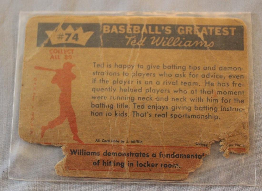 Ted Williams Baseball Cards. (13) - 5