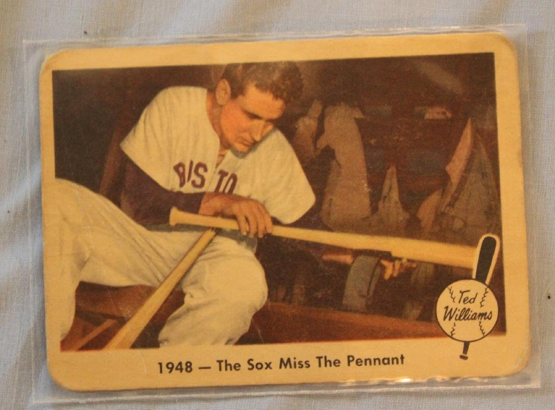 Ted Williams Baseball Cards. (13) - 6