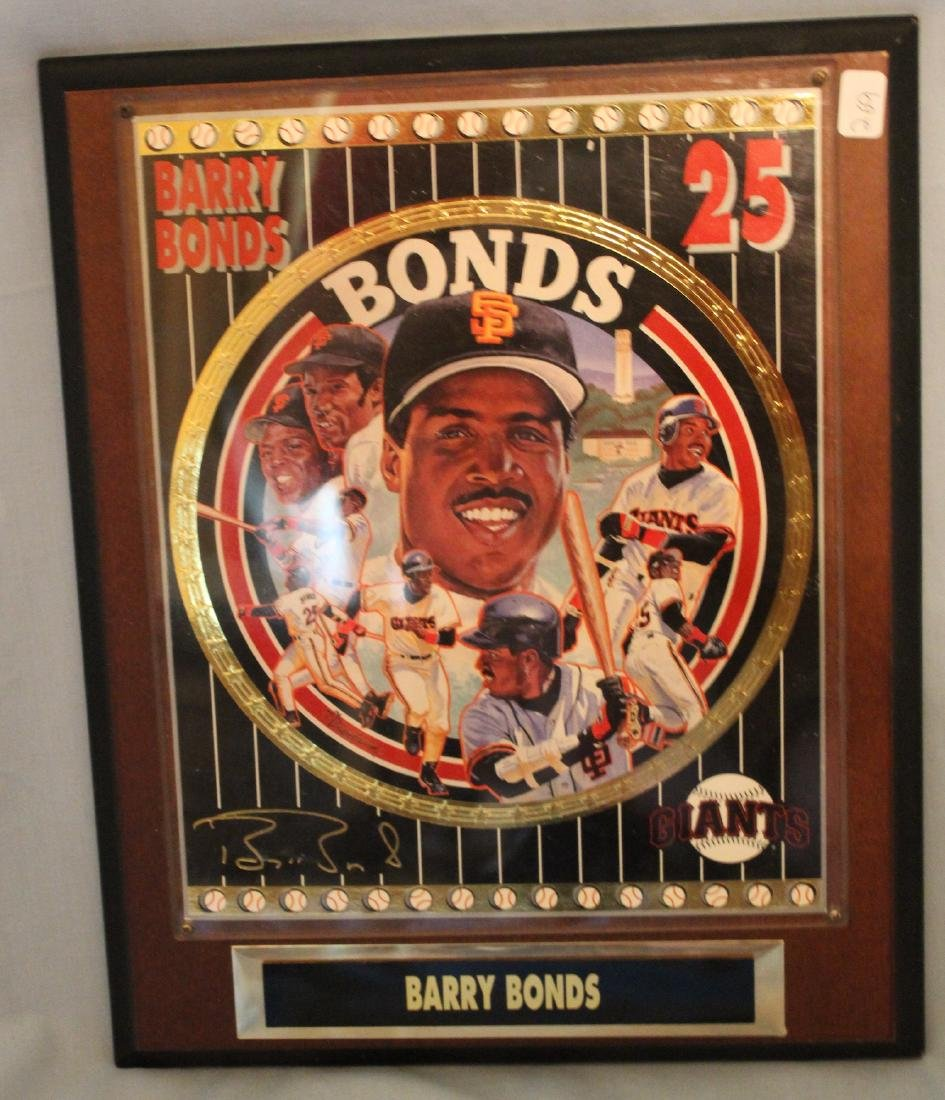 Barry Bonds Limited Ed. Wall Plaque