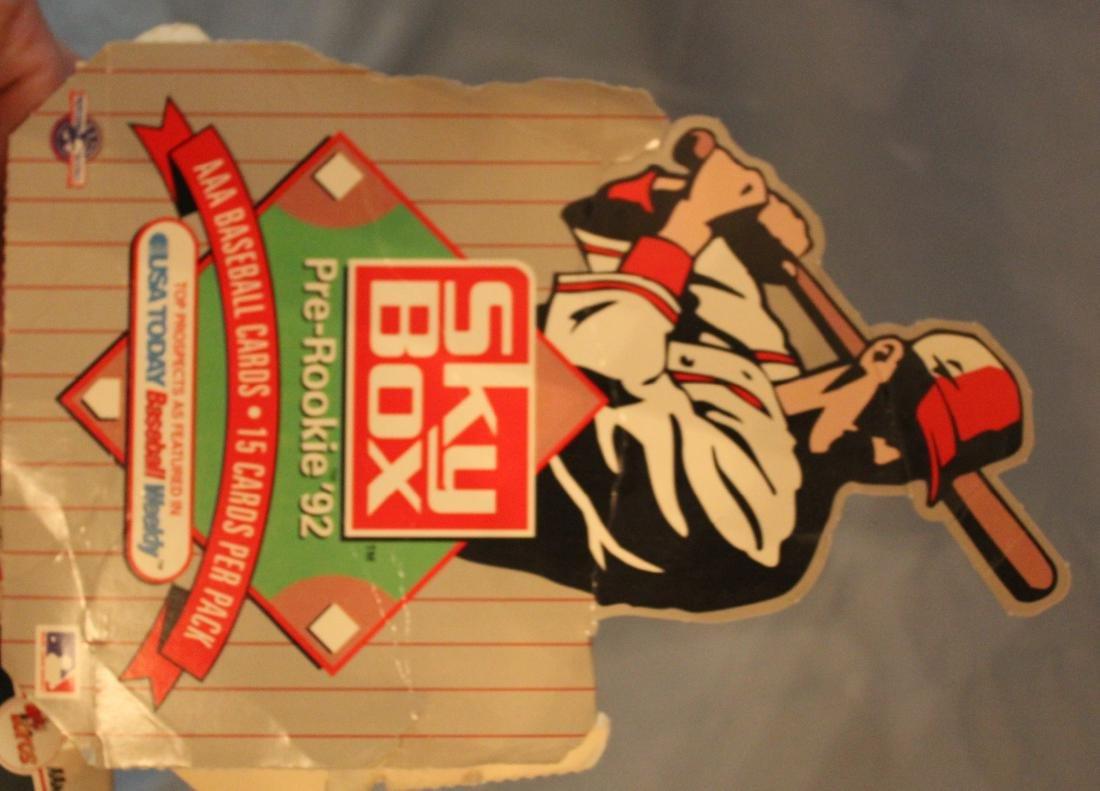 Sky Box Pre-Rookie '92 Baseball Cards.