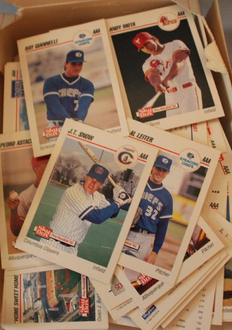 Sky Box Pre-Rookie '92 Baseball Cards. - 2