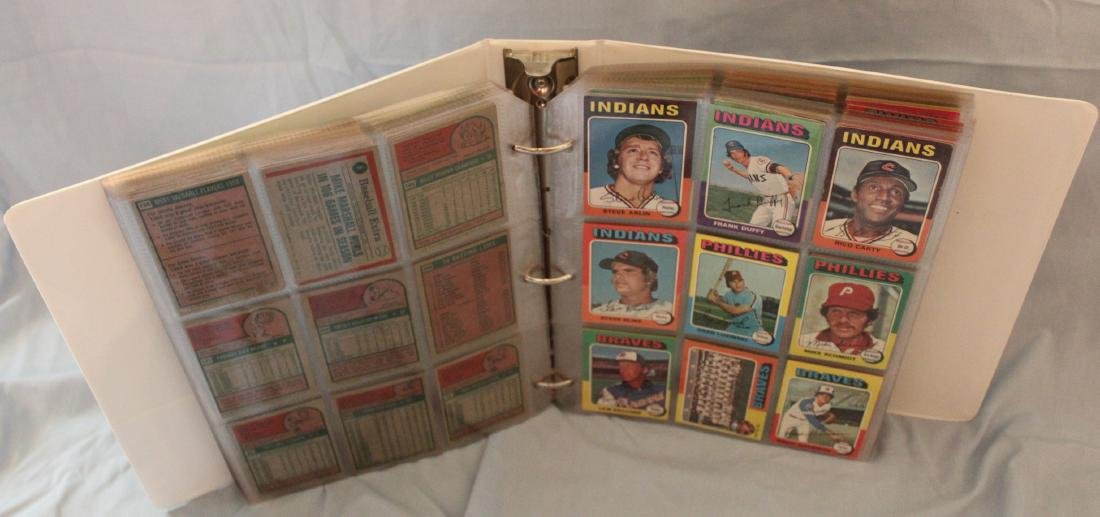 Baseball Card Album. Approx. 450 Topps 1975