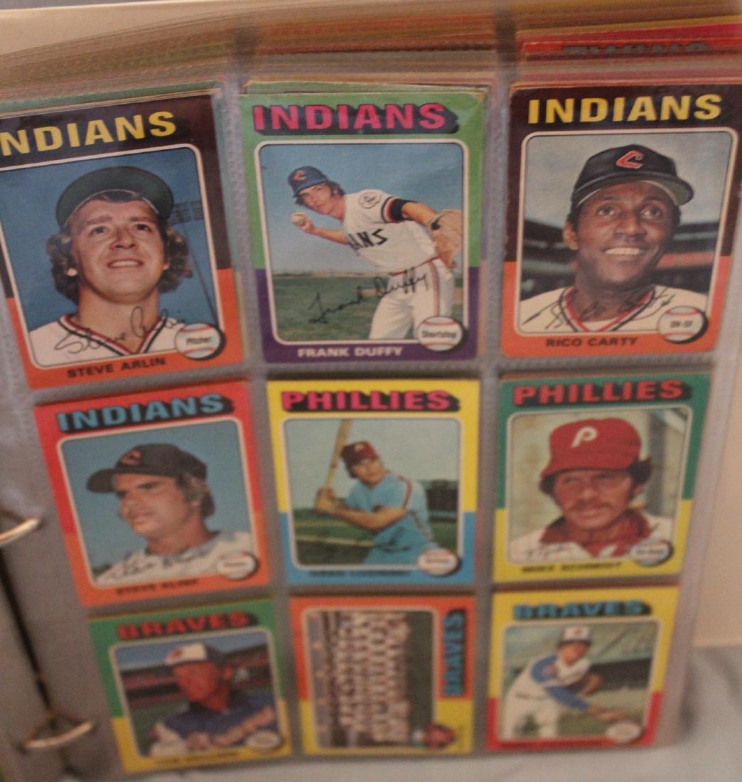 Baseball Card Album. Approx. 450 Topps 1975 - 2