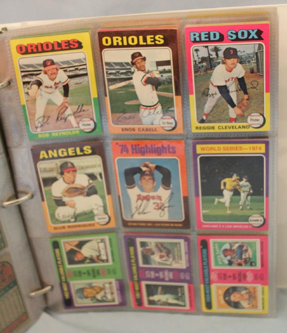 Baseball Card Album. Approx. 450 Topps 1975 - 4
