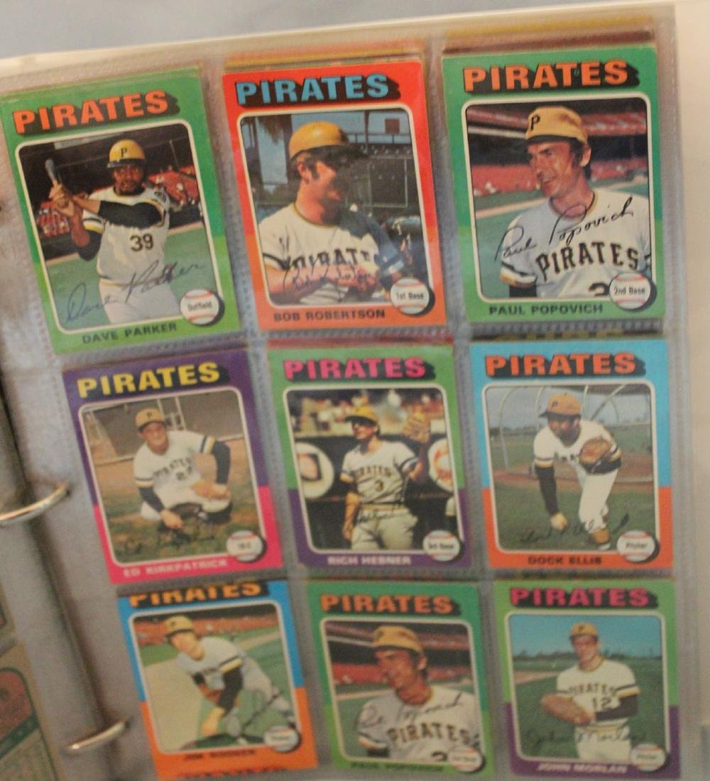 Baseball Card Album. Approx. 450 Topps 1975 - 5
