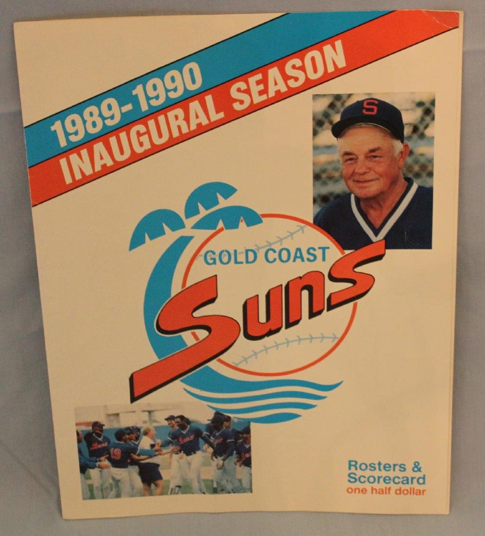 Gold Coast Suns  Scorecard W/Major League Autographs - 2