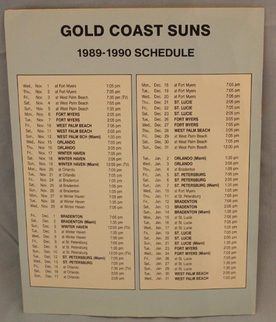 Gold Coast Suns  Scorecard W/Major League Autographs - 3