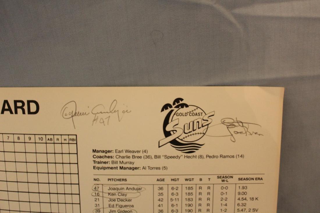 Gold Coast Suns  Scorecard W/Major League Autographs - 4