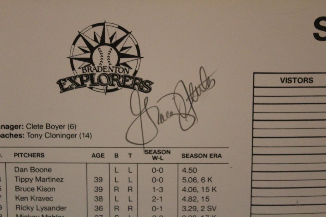 Gold Coast Suns  Scorecard W/Major League Autographs - 5