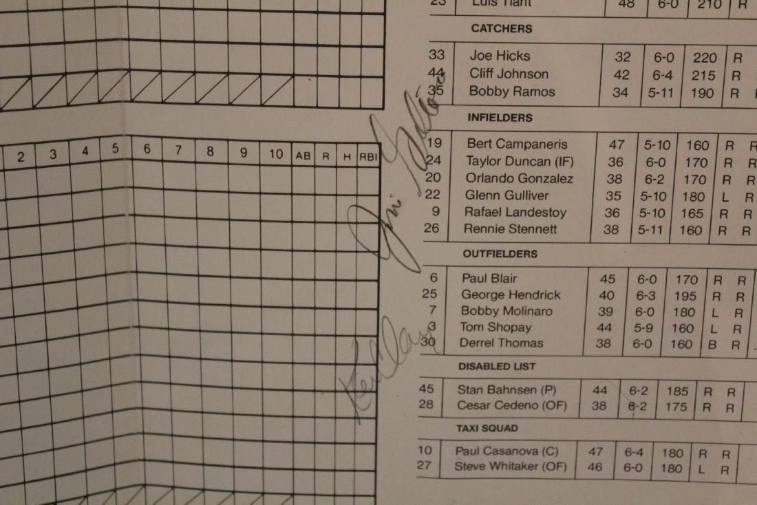 Gold Coast Suns  Scorecard W/Major League Autographs - 7