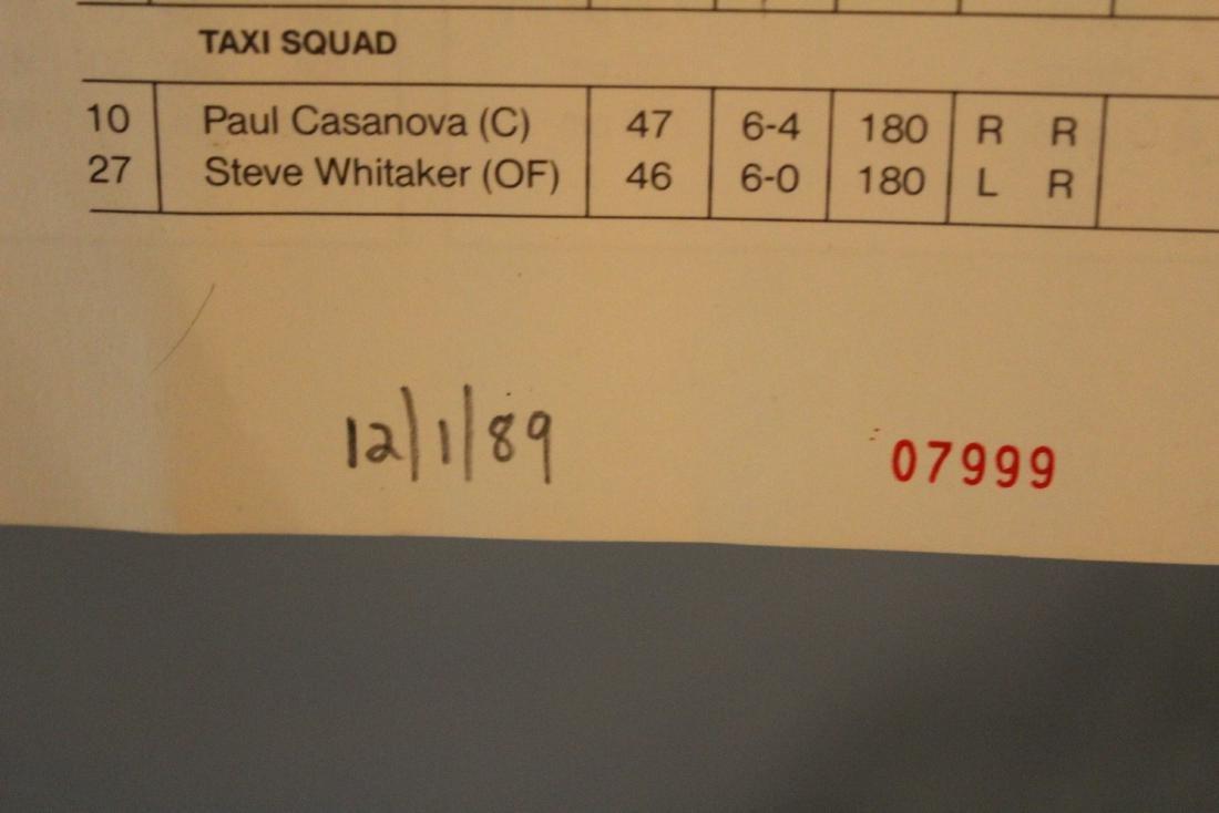 Gold Coast Suns  Scorecard W/Major League Autographs - 8