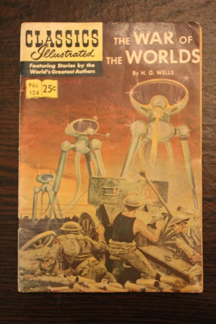 Classic Comic Book.  War of the Worlds