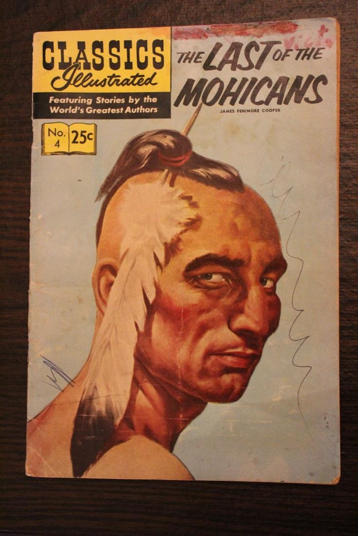 Classic Comic Book. Last of the Mohicans
