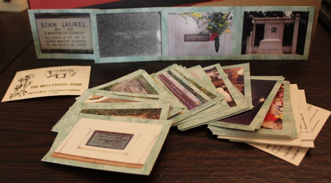 R.IP. Card Set. Tombstones of Celebrities
