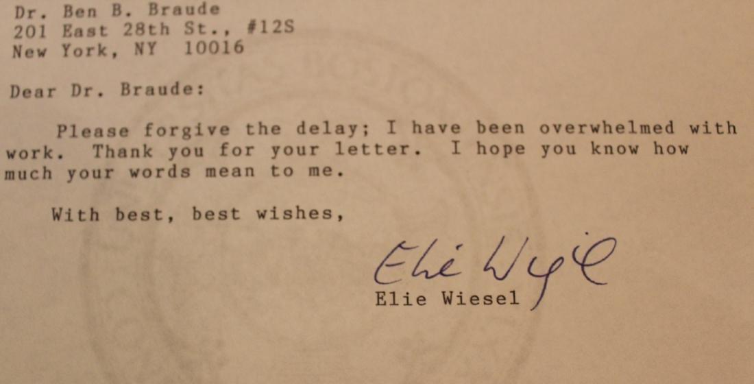 Elie Wiesel Autograph. - 3