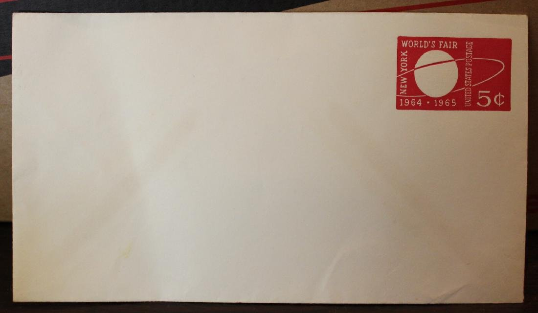 1964 World's Faiir 5 Cent Envelope.