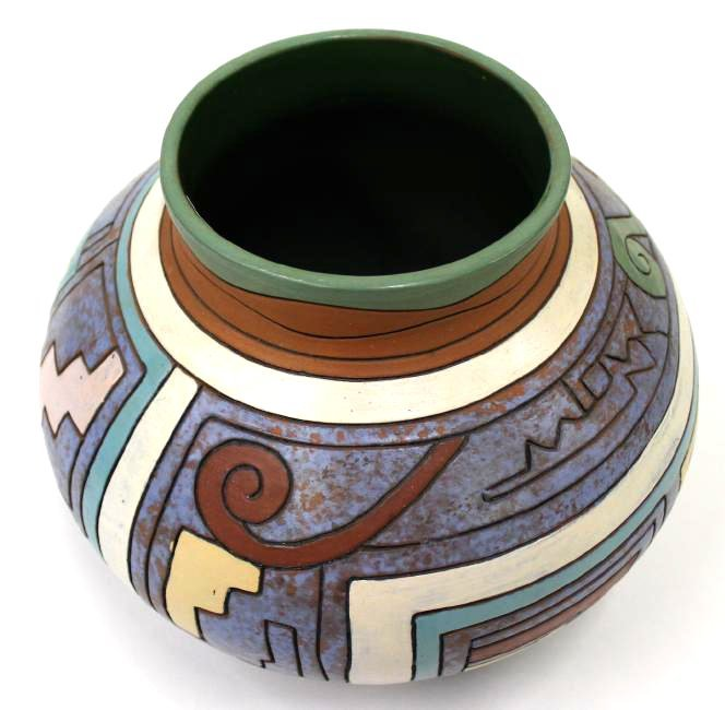 American Southwest Indian Pottery Jar - 3