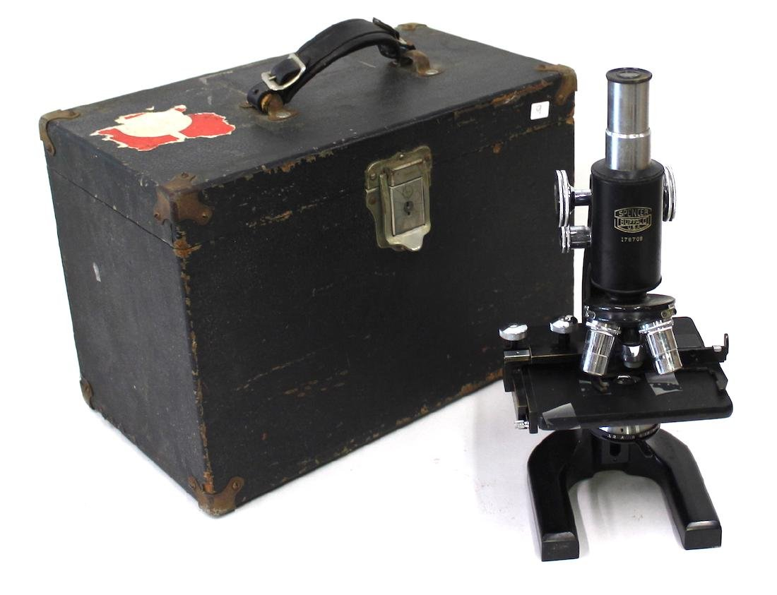 Antique Spencer  Microscope in Case