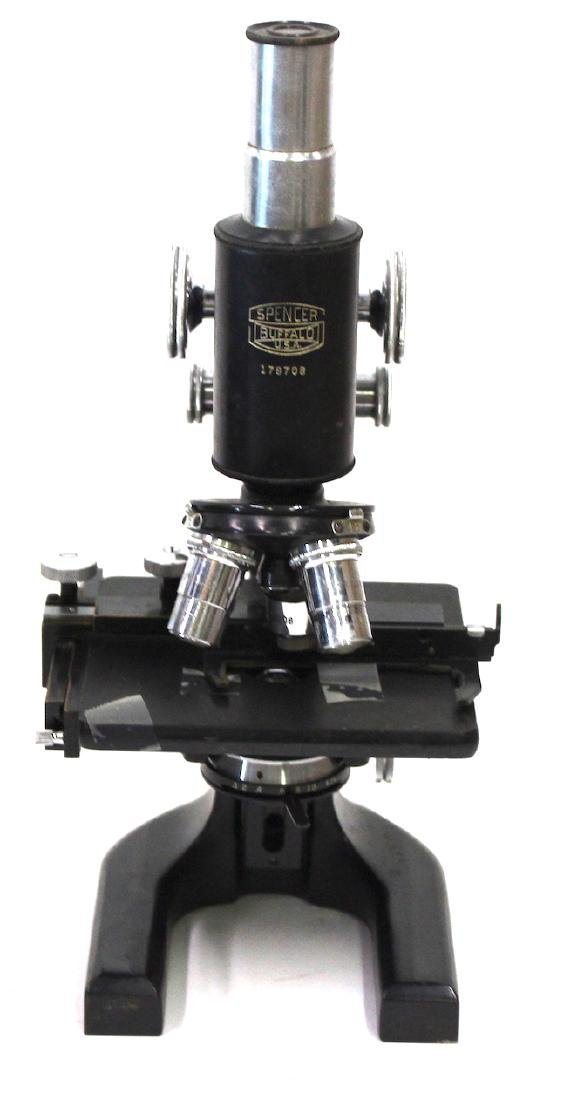 Antique Spencer  Microscope in Case - 2