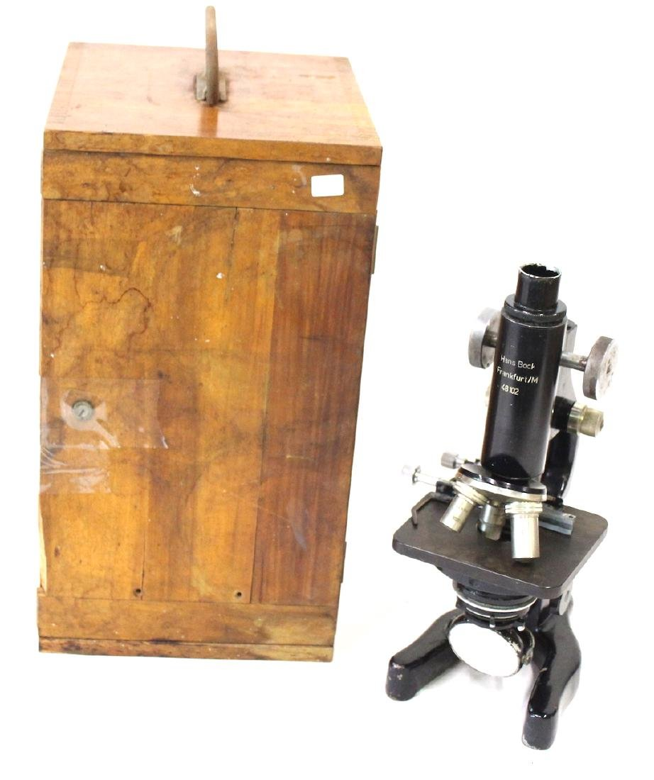 Antique Hans Bock Microscope