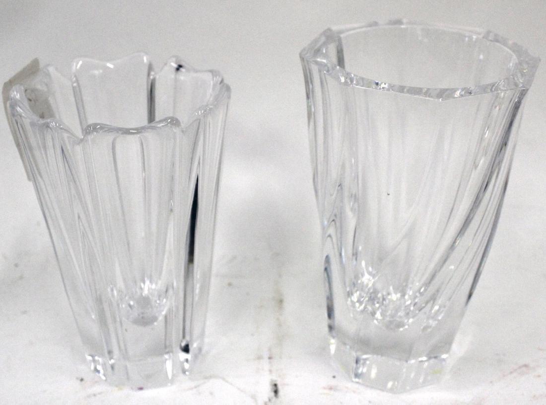 Orrefors Vases Signed . (2)