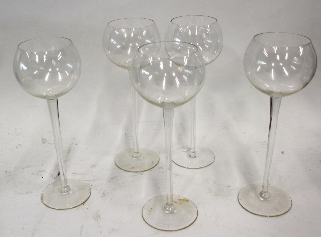 Crystal Tall White Wines ( 5)