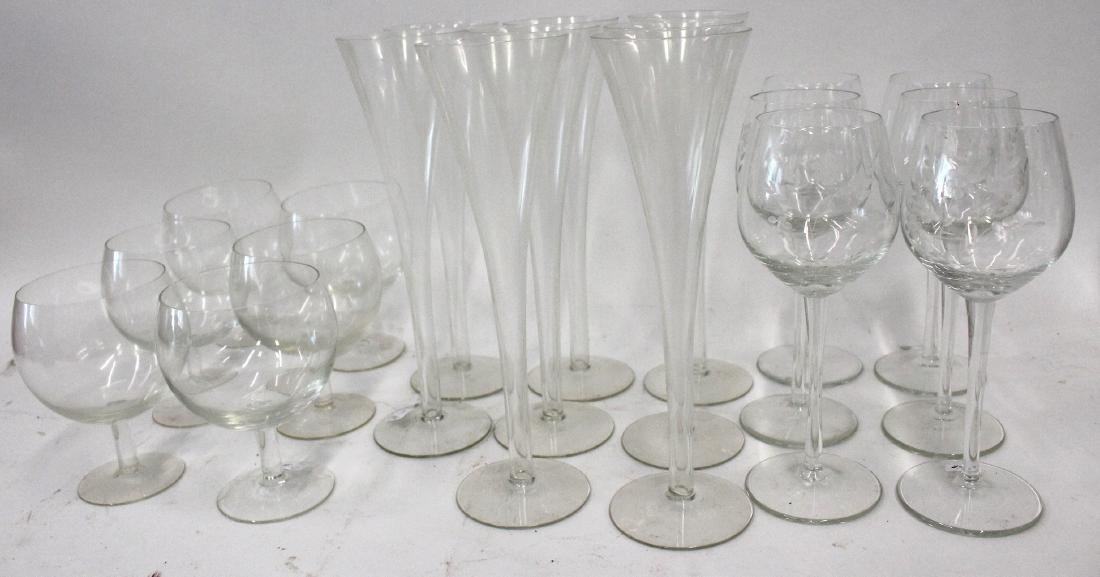 Crystal Stemware. Champagnes. Brandies and Wines (20)