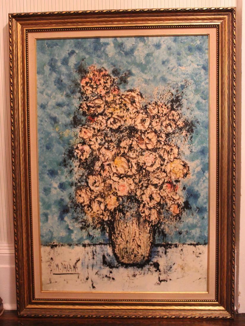 M.Dalan . Oil. Floral Still Life. Signed