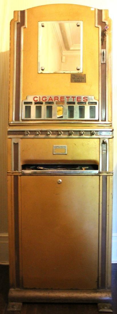 Art Deco Cigarette Vending Machine Empire State Bldg.