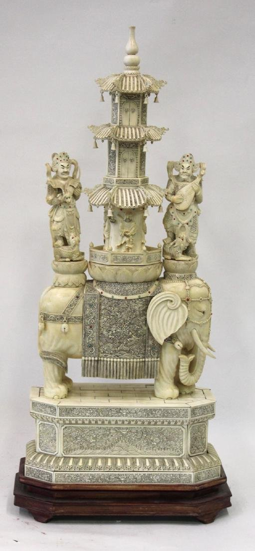19th C. Carved Oriental Pagoda