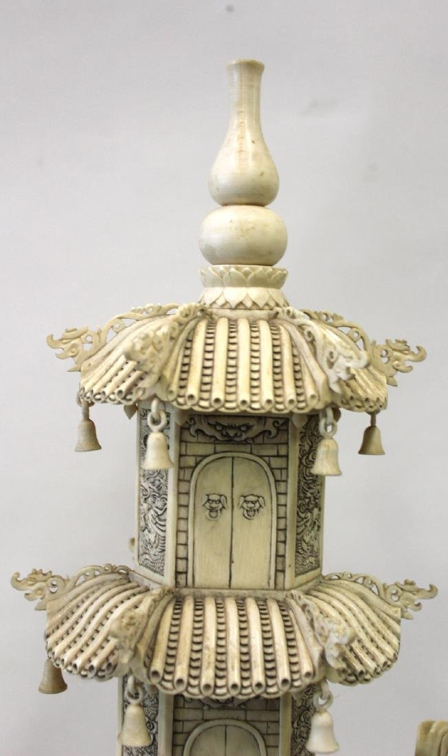 19th C. Carved Oriental Pagoda - 3