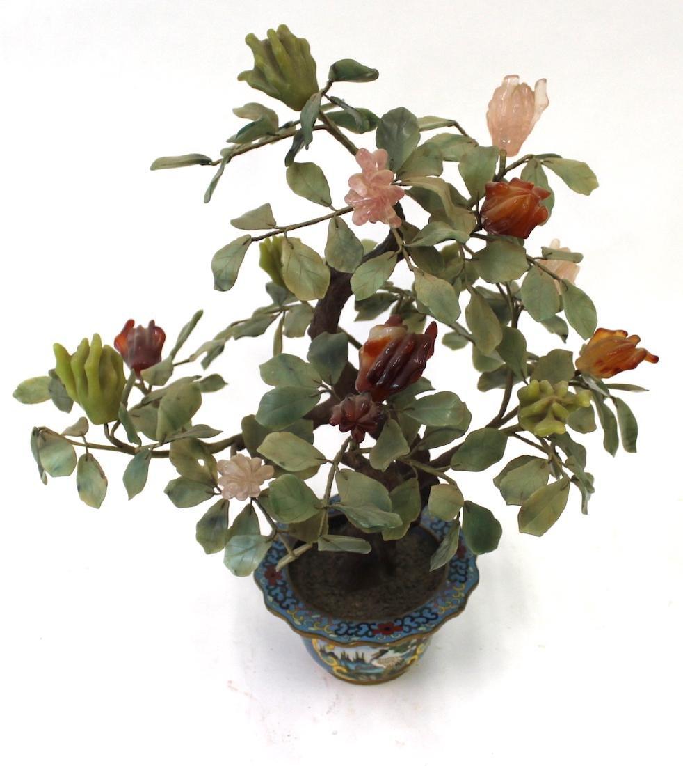 """19th C. Jade """"Plant"""" Cloisonne Planter"""