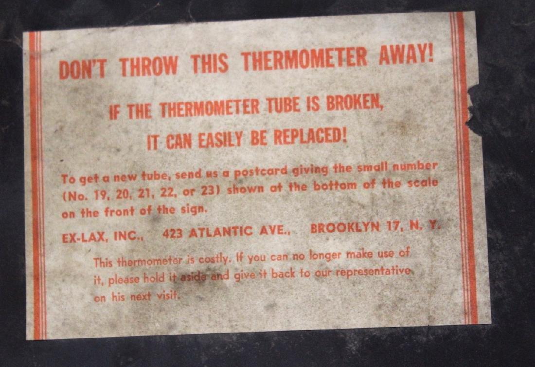 Original Enameled Ex-Lax Thermometer - 6