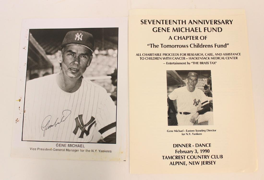 Gene Michael Signed Photo & Program