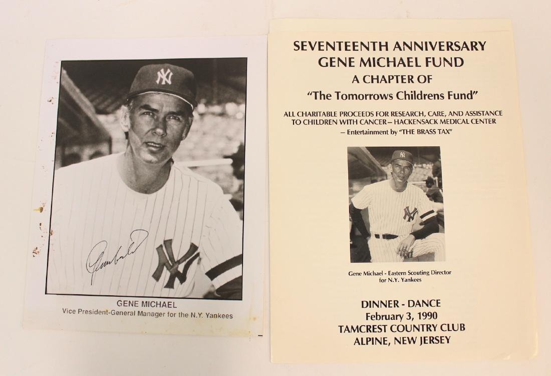 Gene Michael Signed Photo & Program